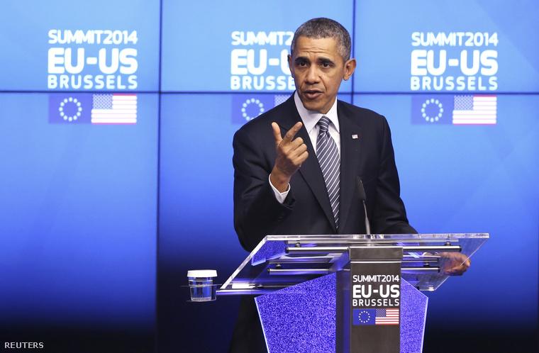Obama elnök ma délelőtt egy brüsszeli sajótájékoztatón beszélt az ukrán-orosz helyzetről