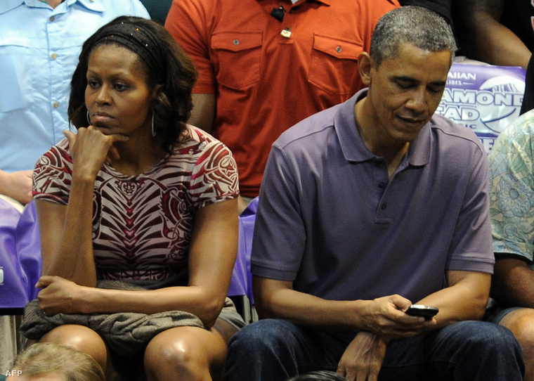 Michelle Obama, Barack Obama és a BlackBerry