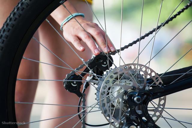Bicikli kerék felfújása