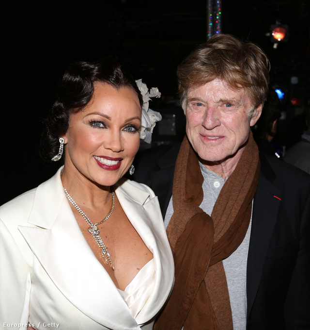 Vanessa Williams és Robert Redford az After Midnight c. musical bemutatója után