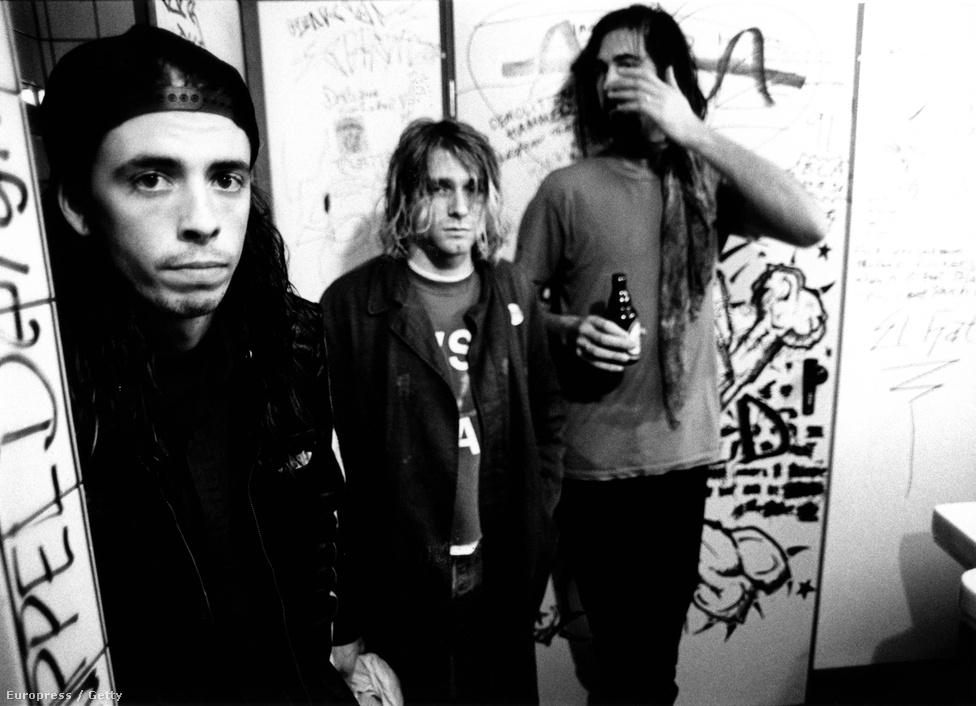 A Nirvana három tagja 1991-ben: Krist Novoselic, Kurt Cobain és az utolsóként csatlakozott Dave Grohl – akinek egy keverőpultról szóló rendezését, a Sound Cityt az éppen  most zajló Titanic fesztiválon mutatják be az A38 hajón.