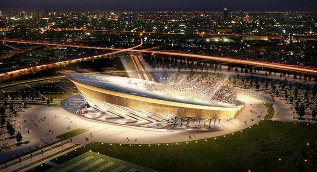 A 2018-as vb-re épülő stadion látványterve