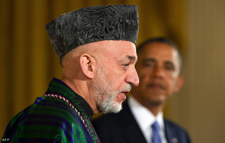 Karzai és Obama Washingtonban 2013 januárjában