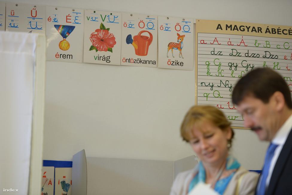 Áder János köztársasági elnök a Zugligeti úti általános iskolában adta le szavazatát. Feleségével várakozás közben hosszan, nevetgélve tanulmányozták az ismeretlen pártnevekkel teli lapot, tréfálkoztak a sajtóval és jókedvűen távoztak.