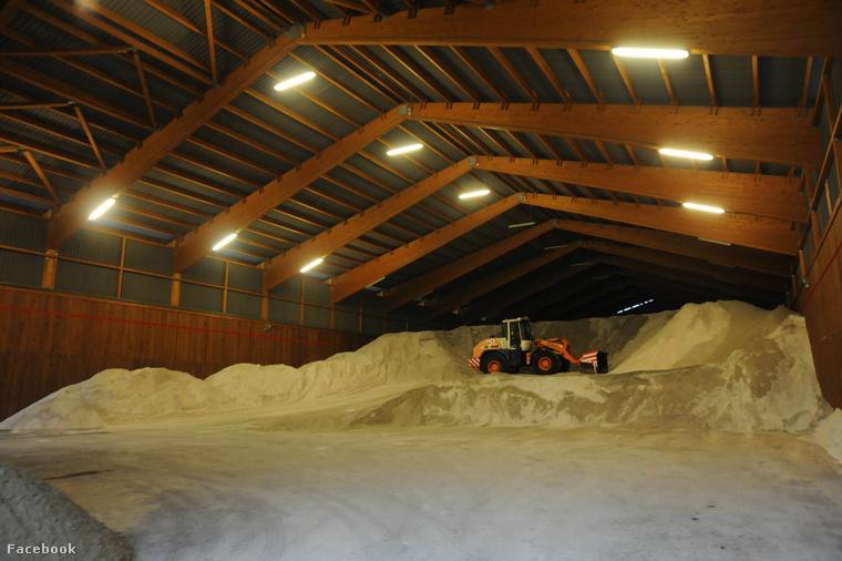 Hintőanyag-tároló az FKF Zrt. Észak-pesti telephelyén