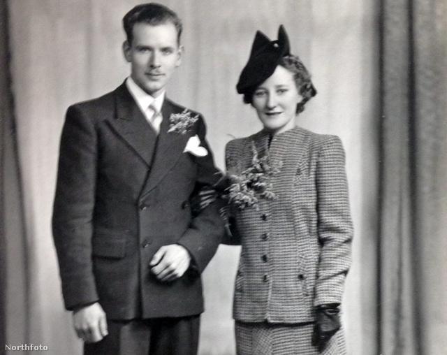 Aquila és Catherine Brant portréja az esküvőjük napján: 1942. április 8-án