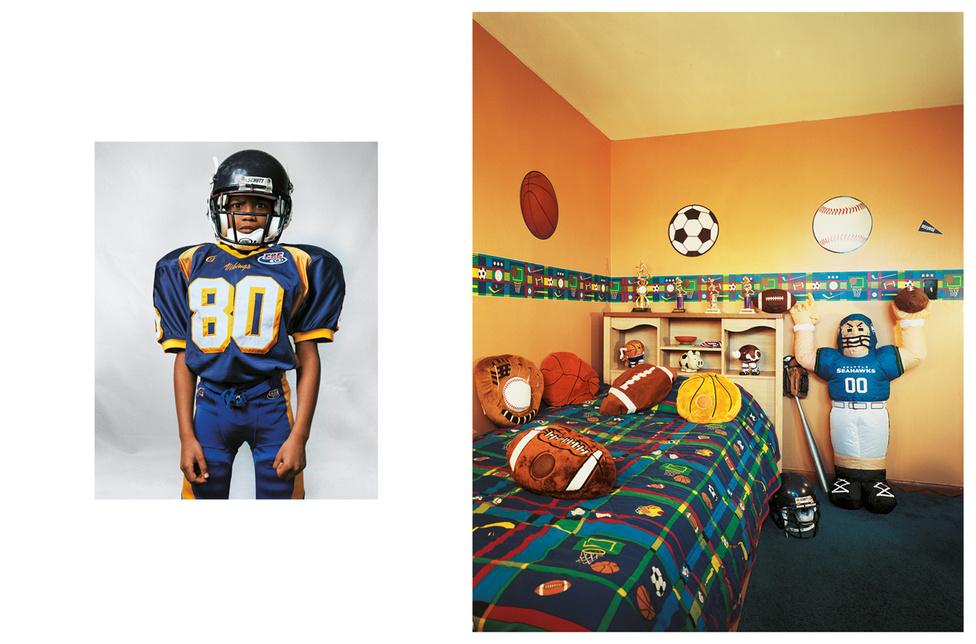 Justin 8 éves, New Jerseyben él egy négy hálószobás házban. Odavan a sportért, a szobáját is így dekorálta ki. Amerikai focit, baseballt és kosárlabdát játszik, egész évben aktív, váltogatja a sportágakat. Fociszezonban heti három edzése van, ez a kedvenc időszaka, öt éves kora óta játszik a helyi csapatban. A szülei mindig is bátorították, noha nagyon sokba kerülnek a felszerelések. Busszal jár iskolába a környékbeli gyerekekkel. Nyaranta két hetet töltenek egy Karib-szigeten. Nagy reményekkel tekint a jövőbe, polgármester szeretne lenni. Ha ez nem jönne össze, akkor pókerjátékos.