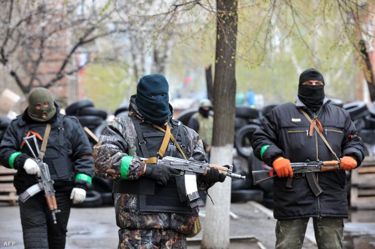 Oroszpárti fegyveresek Szlovjanszkban