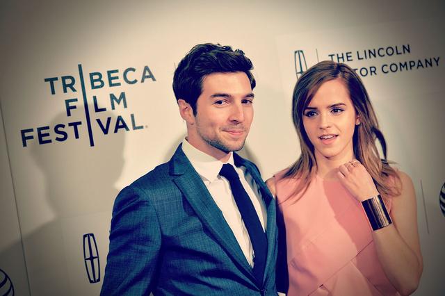 Roberto Aguire és Emma Watson a Tribeca filmfesztiválon.