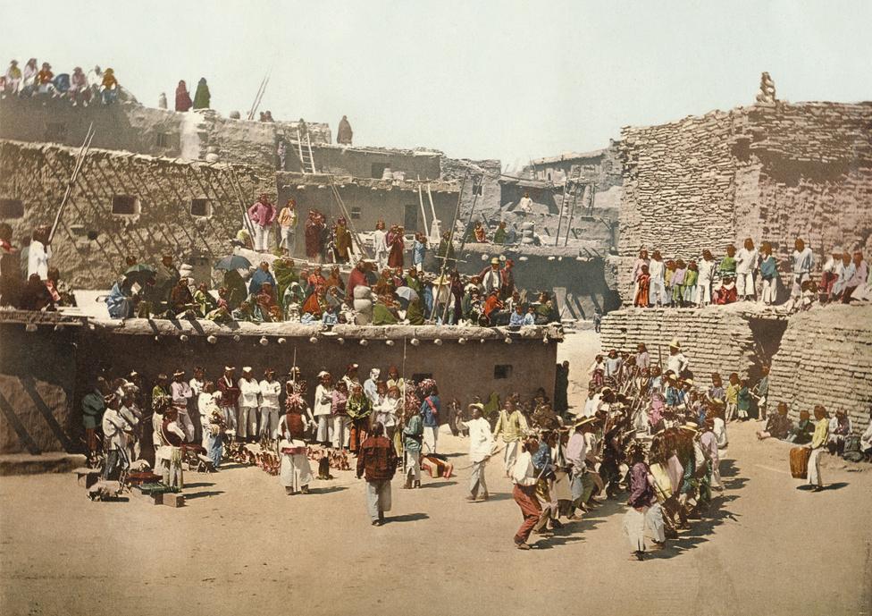 Esőtáncoló új-mexikói indiánok