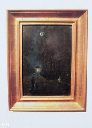 Csontváry Kosztka Tivadar: Éjszakai jelenet kápolnával és alakokkal