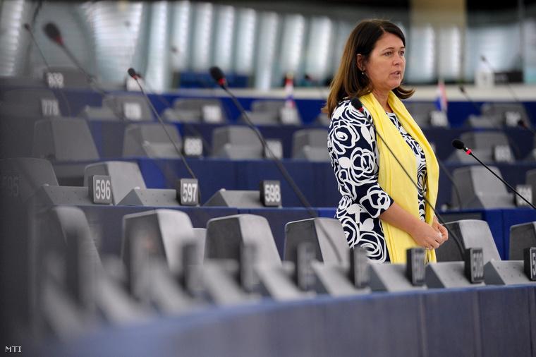 Pelczné dr. Gáll Ildikó a Fidesz-KDNP EP-képviselője a parlament plenáris ülésén Strasbourgban 2014. március 11-én.