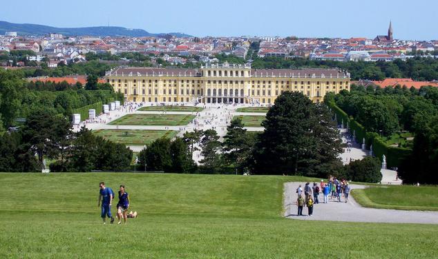 A Schönbrunn Kastély parkja