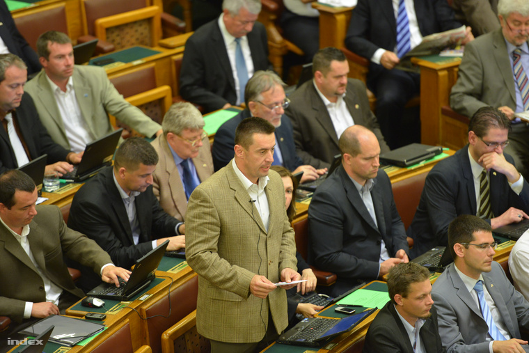 Sneider Tamás a parlamentben 2013 júniusában
