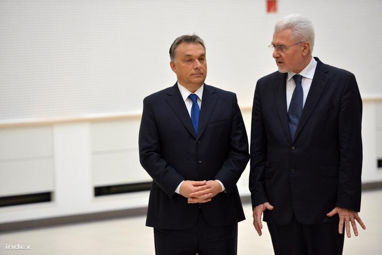 Orbán Viktor és Pálinkás József az MTA Természettudományi Kutatóközpontja átadóján