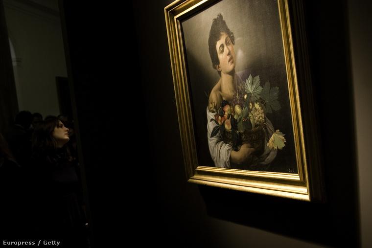 Caravaggio: Gyümölcskosarat tartó fiú