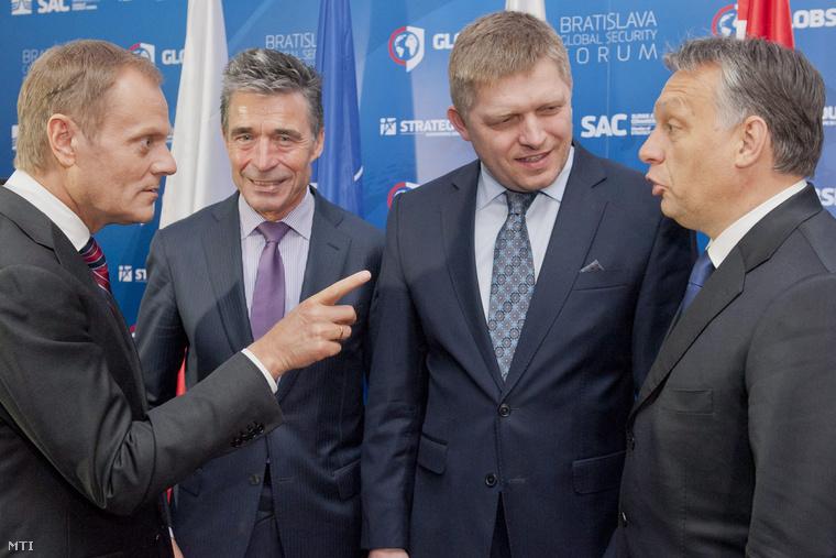 Donald Tusk és Orbán Viktor