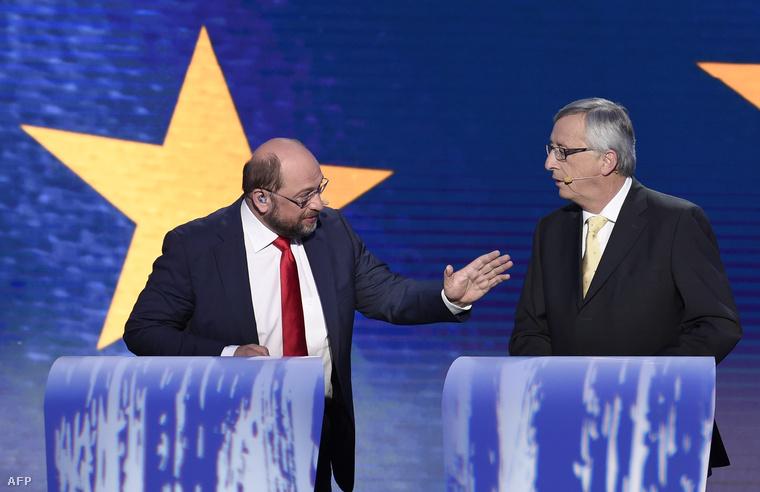 Martin Schulz(b) és Jean-Claude Juncker