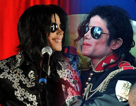 Jackson dús, egyenes haja 2009-ben, és a copfos-fürtös look 1996-ból