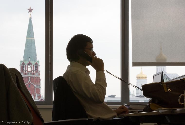 Kilátás a moszkvai Kreml épületére
