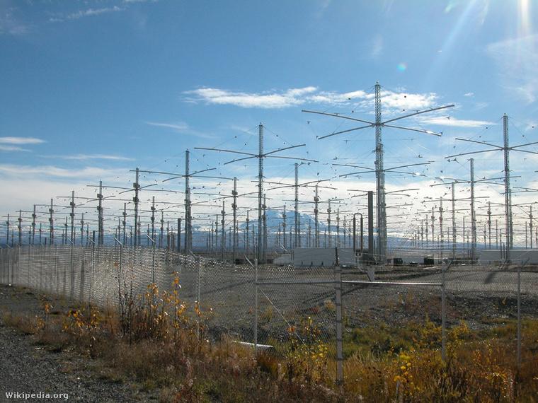A HAARP antennái Alaszkában