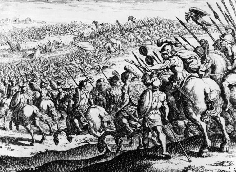 Középkori metszet a granikoszi csatáról