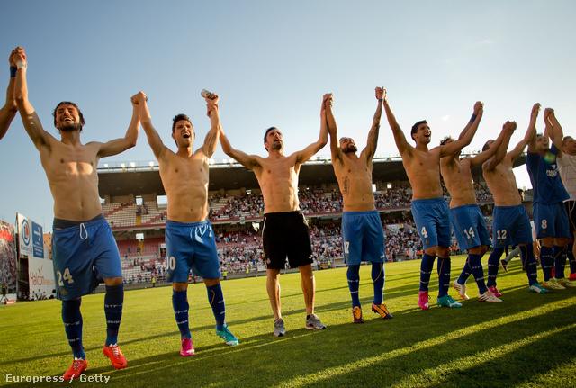 Örül az egész Getafe CF, mert legyőzték a Rayo Vallecano de Madridot!