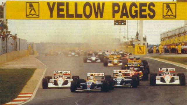 Az 1992-es Formula-1-es nagydíj rajtja Kyalamin