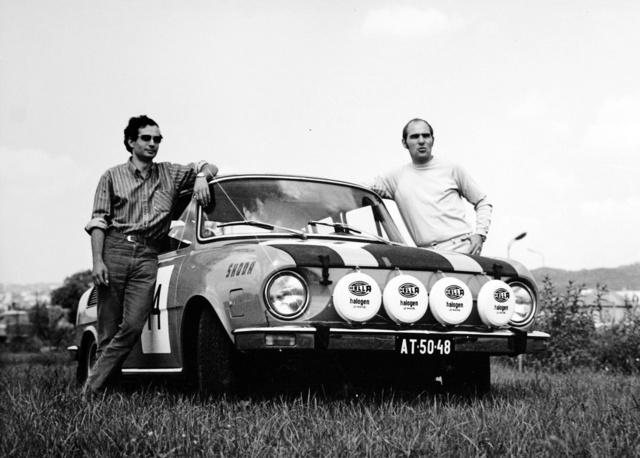 Škoda 110 Rallye és mi. 1972–73-ban mentünk ezzel a kocsival