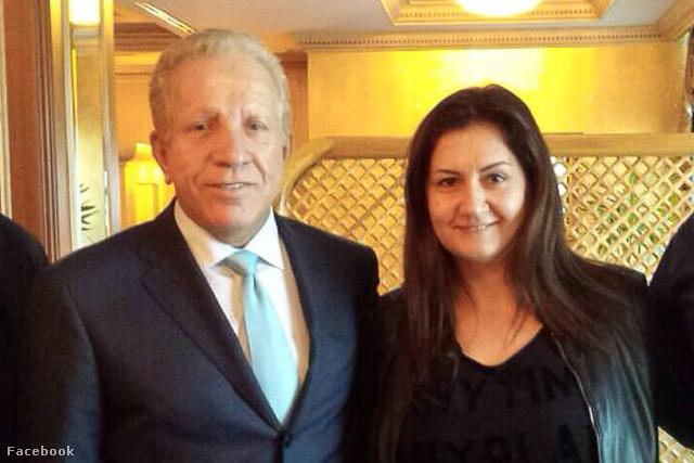 Bhegjet Pacoli, koszovó első elnöke és Buranits Ildikó fitness sportvezetőnő