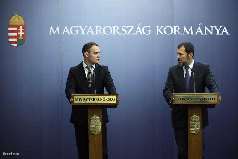 Csepreghy Nándor és Giro-Szász András kormányszóvivő