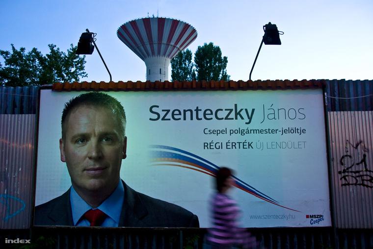 Szenteczky János, XXI. kerületi (Csepel) polgármesterjelölt, 2010-ből