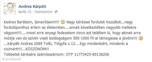 Fotó: Facebook Fotó: Facebook