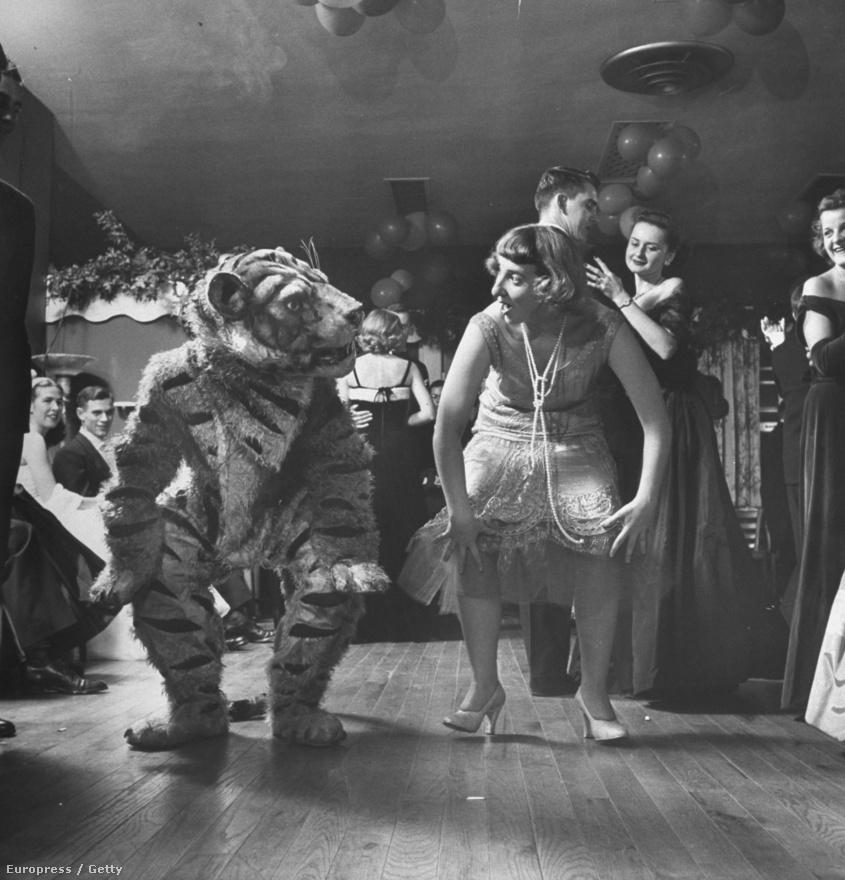 """Két táncos – egyikőjük tigrisjelmezben – a húszas évekből származó, jellegzetes Charleston-táncot járja. A műfaj a dél-karolinai Charleston kikötővárosról kapta a nevét, a zenét pedig mindenekelőtt a fekete zongorista-dalszerző, James P. Johnson """"The Charleston"""" című szerzeménye szolgáltatta hozzá."""