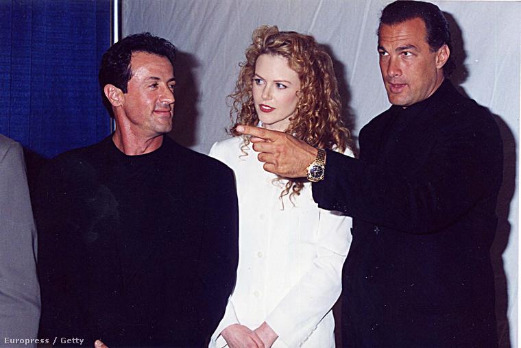 Sylverster Stallone, Nicole Kidman és Steven Seagal 1995-ben a ShoWesten, az Amerikai Mozitulajdonosok Szövetségének éves gáláján (ez a buli azóta már CineCon címen fut)