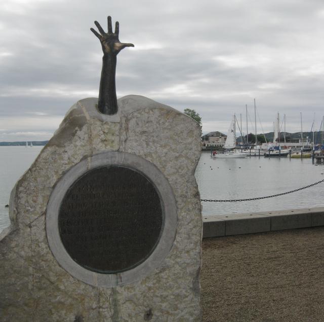 Monument on the Tagore promenade (Balatonfüred)
