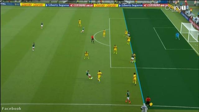 Az első meg nem adott gól előtti helyzet