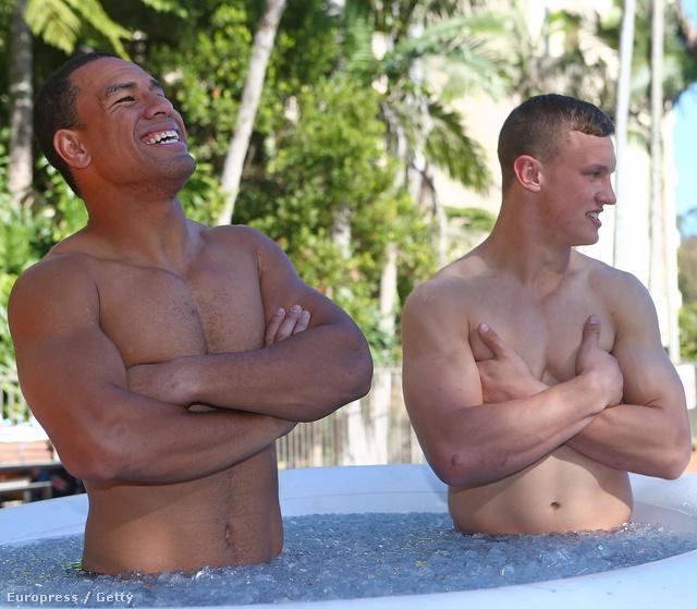 Will Hopoate és Jack Wighton a jeges fürdőben