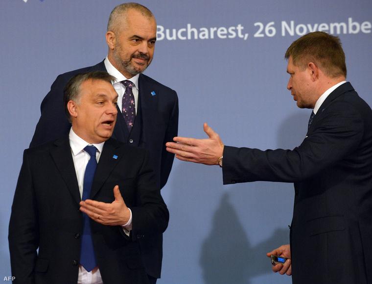 Orbán Viktor és Robert Fico egy 2013-as találkozón
