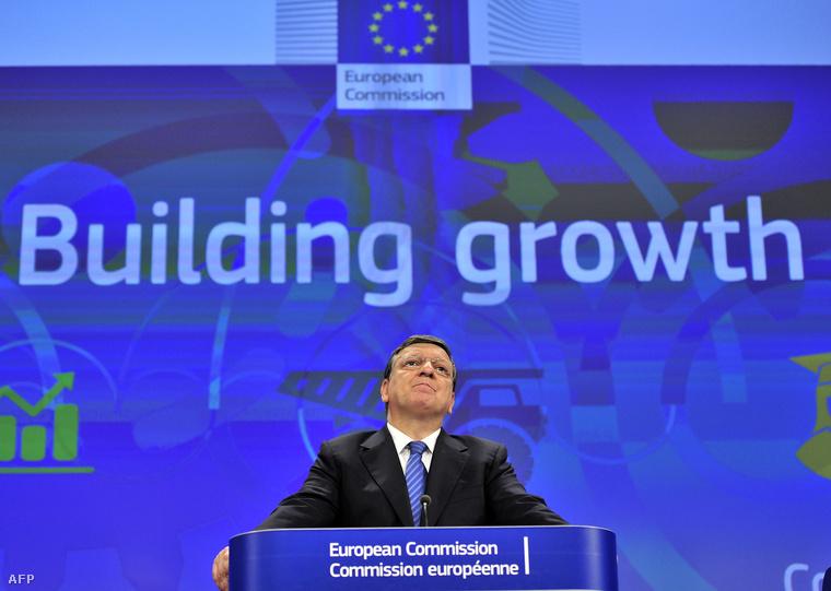 Jose Manuel Barroso az Európai Bizottság elnöke az országspecifikus ajánlások közzétételét követő sajtótájékoztatón, Brüsszelben, 2014. június 2-án.