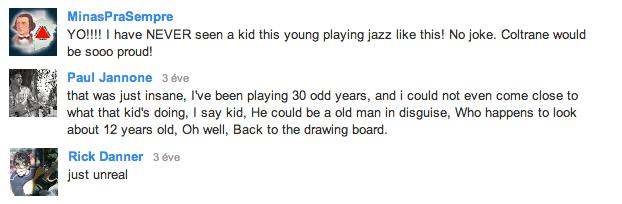 kommentek Andreas egyik Youtube videója alatt