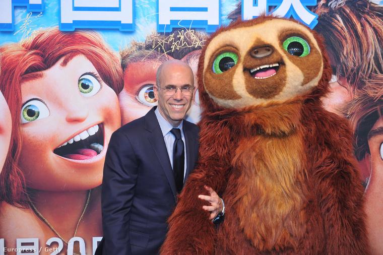 Jeffrey Katzenberg a Croodék premierjén
