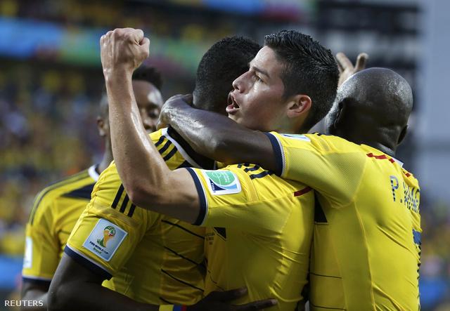 Kolumbia kilenc gólt rúgott a csoportban