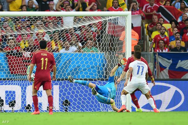 Chile 2-0-ra verte a spanyolokat a csoportban