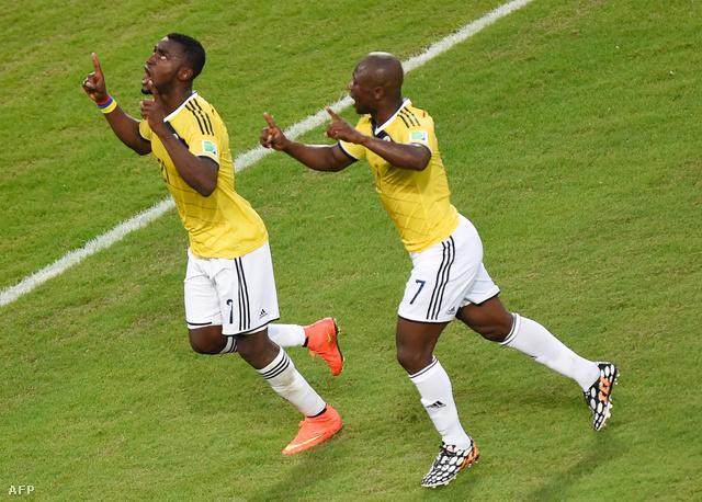 Kolumbia kilenc gólt rúgott a csoportkörben