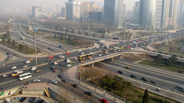 A pekingi hármas körgyűrű egy szakasza