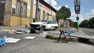 Frontális karambol történt Kispesten