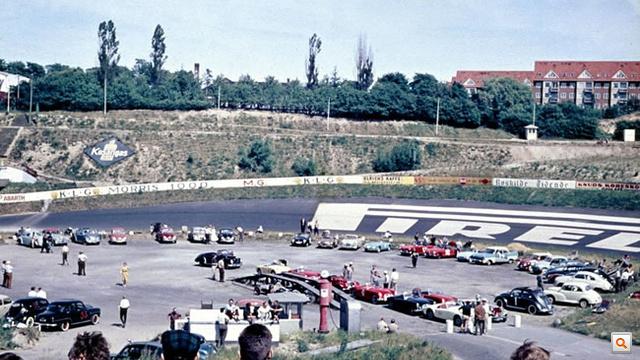 A híres döntött Pirelli-kanyar 1959-ben