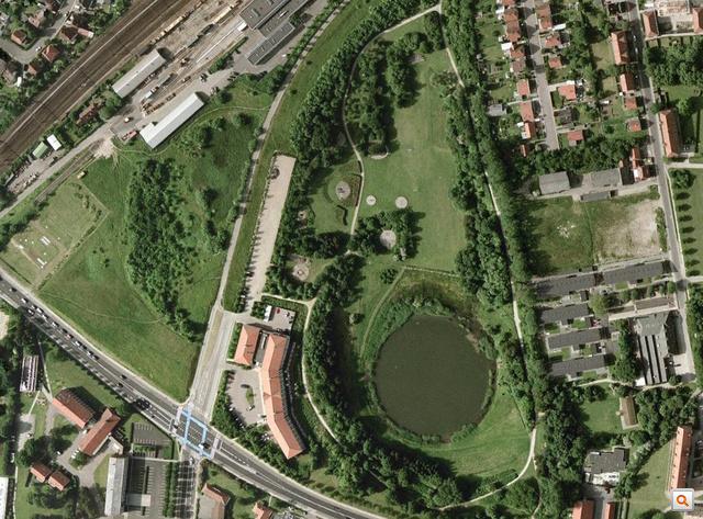 A Roskilde Ring Park műholdképen