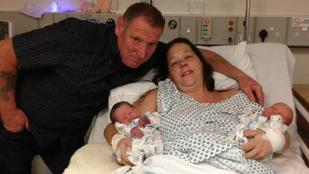 Döbbenetes méretű ikreket szült egy angol nő